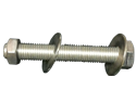 Bolt Assembly : 3/8&#34-16 X 2&#34 Hexhead, 1 Nut, 2 Washers, 18-8 SS Threaded Full Length